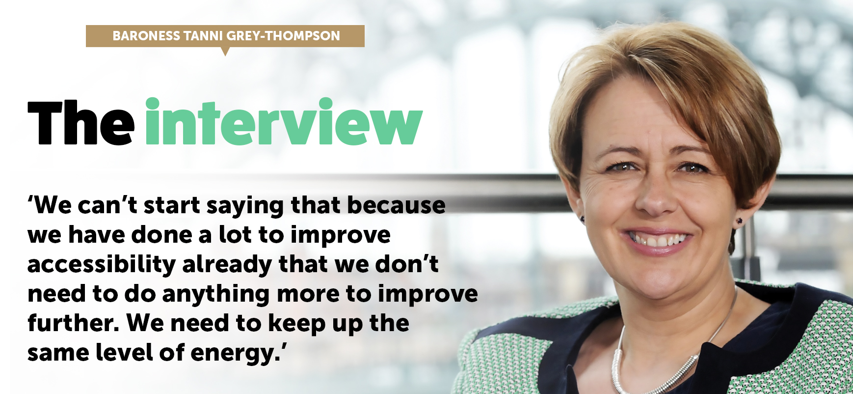 imgThe Interview: Baroness Tanni Grey-Thompson