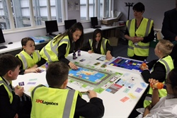 "XPO Logistics DC in Barnsley play ""Business on the Move"" with local schools"